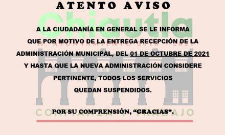 Alcalde de Chiautla suspende servicios antes de culminar administración