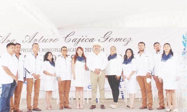 Arturo Cajica se comprometió a reactivar la economía de Acatlán