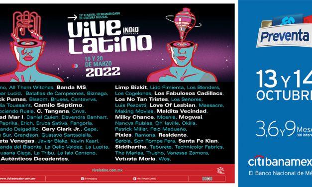 Cartel completo del Vive Latino 2022
