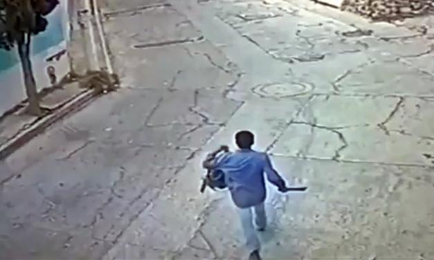 Con machete en mano, hombre atemoriza a ciudadanos de Atlixco