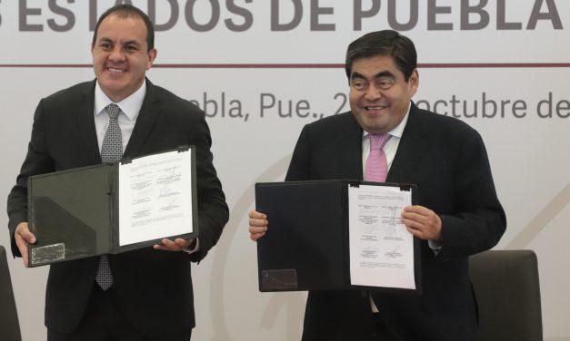 Firman Puebla y Morelos acuerdo de coordinación en materia de seguridad pública