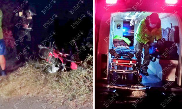 Motociclista ebrio derrapó en el libramiento ICATEP – UTIM