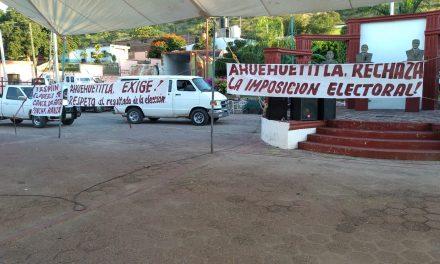 En Ahuehuetitla ganó un candidato sin registro, piden se respete el triunfo