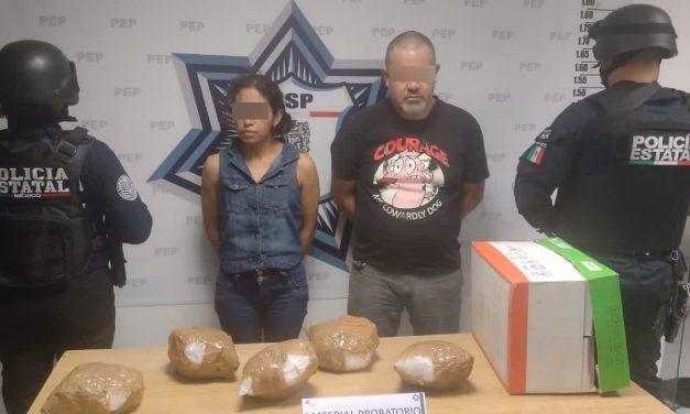 Con aproximadamente siete kilos de cristal, SSP detiene a dos presuntos distribuidores de droga