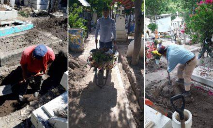 Panteón municipal de Izúcar listo para esta temporada de muertos